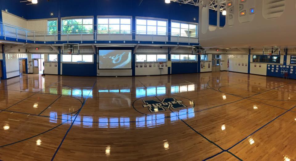 Gymnasium video system install