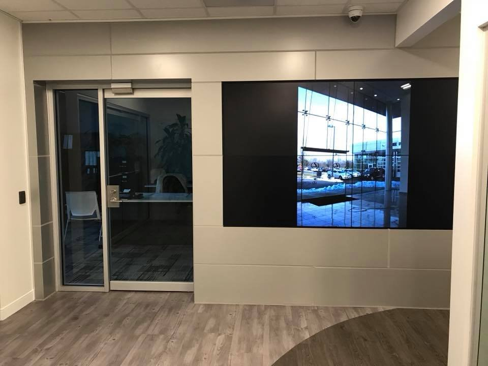 Large Sharp video wall system